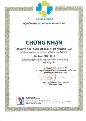 Chứng Nhận Vietnam Value