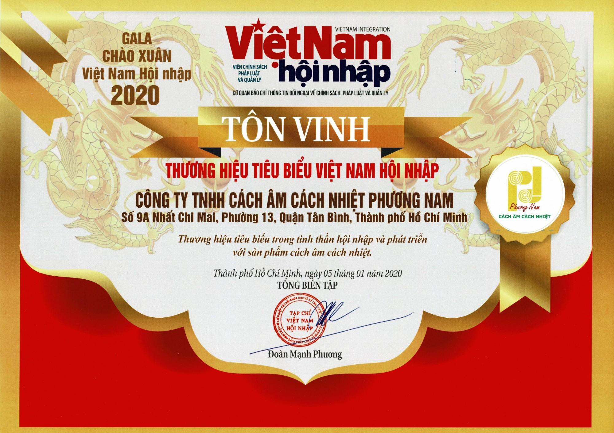 Thương Hiệu Tiêu Biểu Việt Nam Hội Nhập