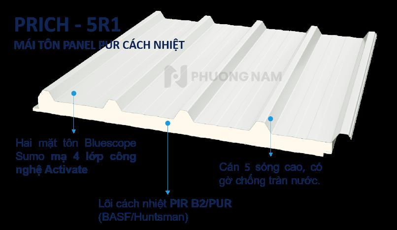 Mái Panel Prich PUR - Mái Tôn Cách Nhiệt