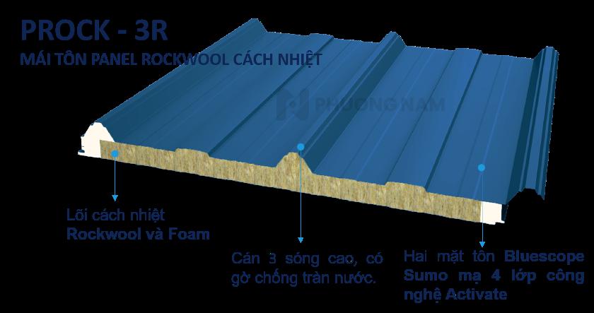 Mái Panel Prock Rockwool - Mái Tôn Cách Nhiệt