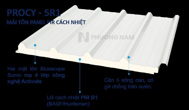 Mái Panel Procy PIR - Mái Tôn Cách Nhiệt
