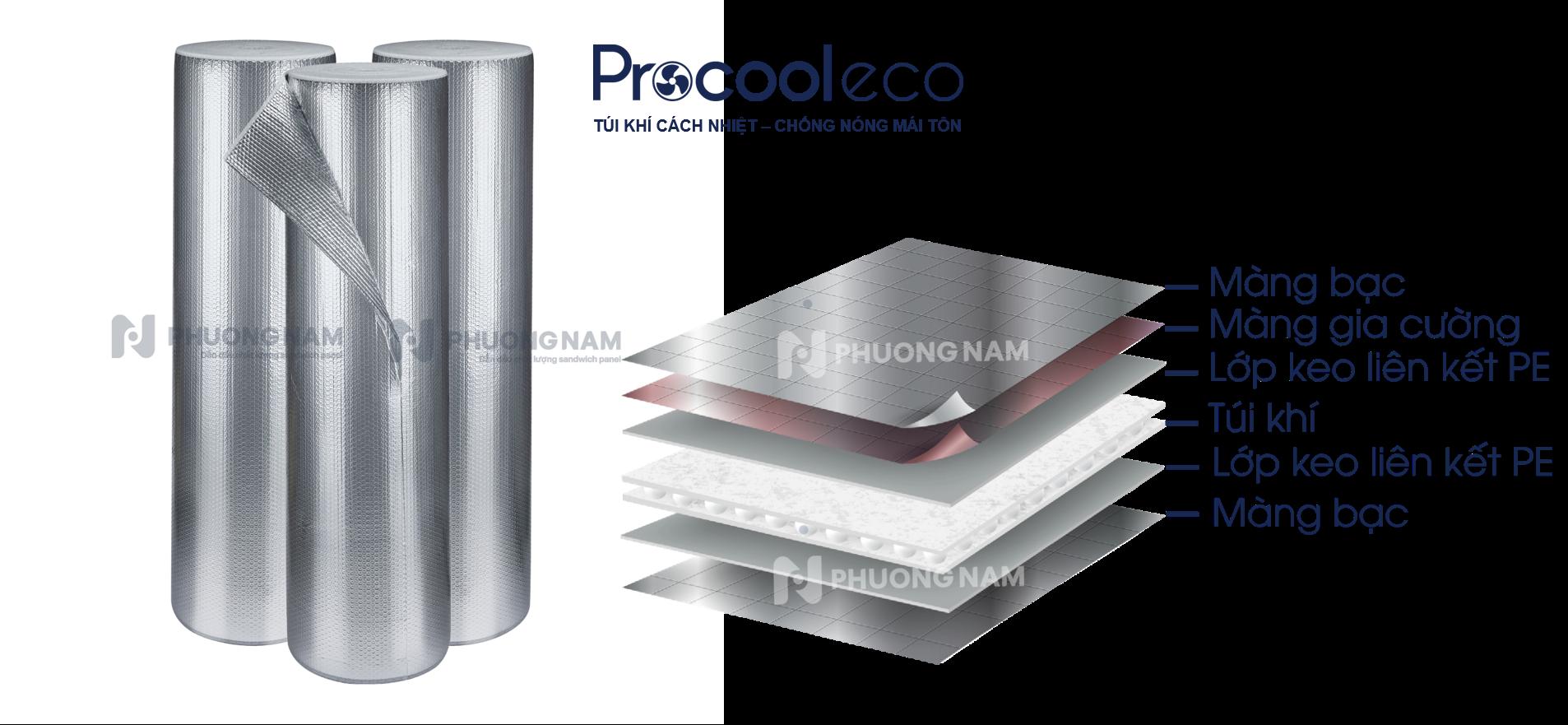 Tấm cách nhiệt túi khí ProCool Eco - Chống nóng mái tôn