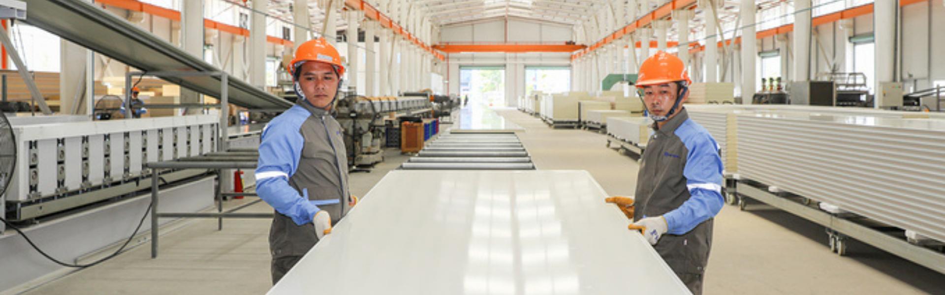 Vật liệu XANH, NHẸ - dây chuyền sản xuất HIỆN ĐẠI